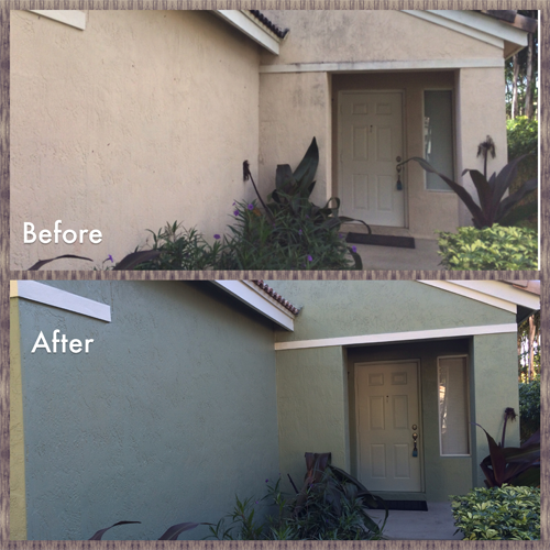 Weston FL Exterior Painting Project Front 2