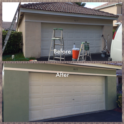 Weston Fl Exterior Painting Project Garage